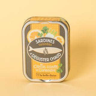 La Belle-Iloise Sardines cuisinées à déguster chaud au citron confit et coriandre