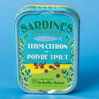 La Belle-Iloise La Belle-Iloise Sardines à l'huile d'olive, thym citron et poivre Timut