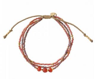 A Beautiful Story Gentle Carnelian Gold Bracelet