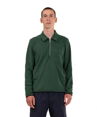 Norse Projects Jorn Fleece Half Zip Jacket Dartmouth Green