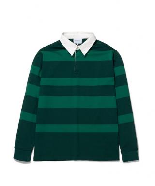 Norse Projects Ruben Polo Block Stripe Shirt Dartmouth Green