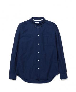 Norse Projects Osvald BD Cotton Linen Shirt Ultra Marine