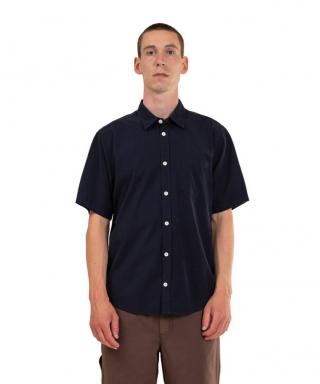 Norse Projects Osvald Micro Texture Shirt Dark Navy