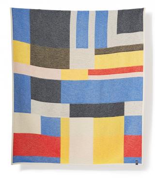 ZigZag Zürich Primary Cotton Blanket & Throw by Sophie Probst & Michele Rondelli