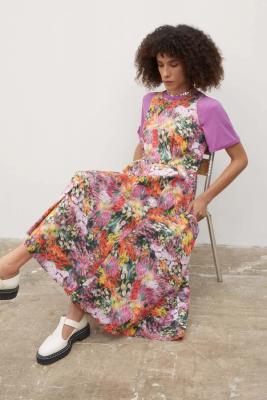 Kowtow Claude Dress Hazy Floral