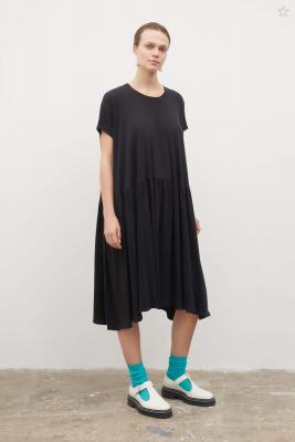 Kowtow Gather Dress Black
