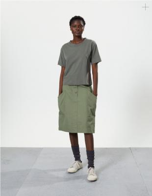 Margaret Howell Cinch Back Skirt Khaki