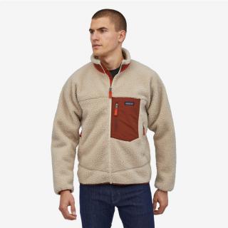 Patagonia Men's Classic Retro-X® Fleece Jacket Natural Barn Red