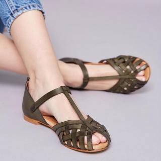 Beatriz Furest PESCA Sandals Musgo Green