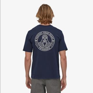 Patagonia  Men's Peak Protector Badge Responsibili-Tee New Navy