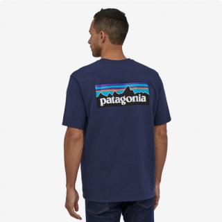 Patagonia  Men's P-6 Logo Responsibili-Tee Classic Navy