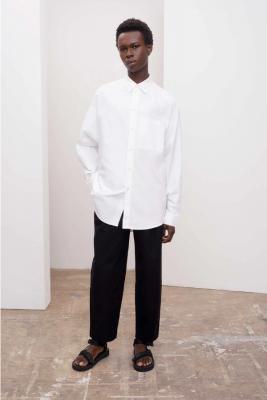 Kowtow Unisex Oxford Shirt White