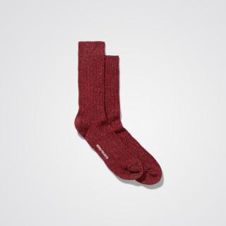 Norse Projects Bjarki Neps Socks Carmine Red