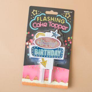 SuckUk Flashing Cake Topper Happy Birthday