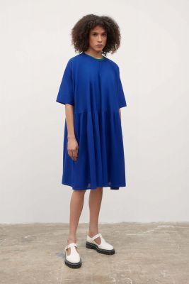 Kowtow Sketchbook Dress Cyan