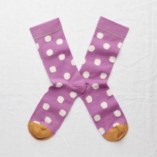 Bonne Maison Socks Rosewood Polka Dot