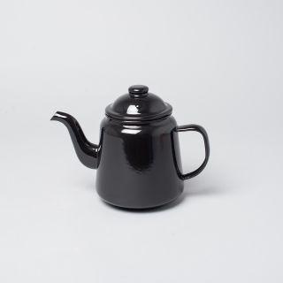 Falcon Enamelware Tea Pot Coal Black