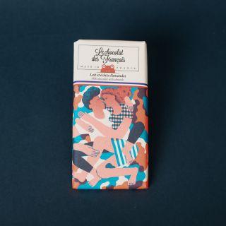 Le Chocolat Des Francais Organic Milk & Almond Flakes