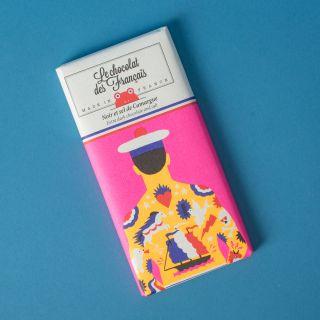 Le Chocolat des Francais  Extra dark 71% & salt from Camargue - Organic