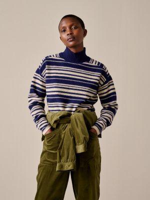 Bellerose Gadal Knit Sweater Stripe a Blue