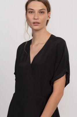 Humanoid Spud Wrap Dress Blackish