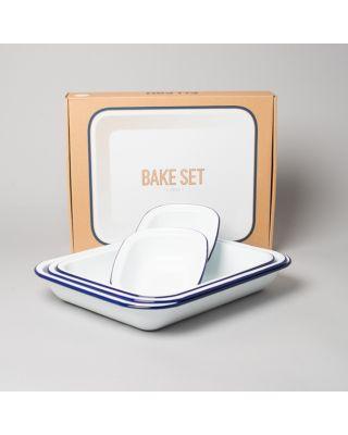 Falcon Enamelware Bake Set (Weiss)